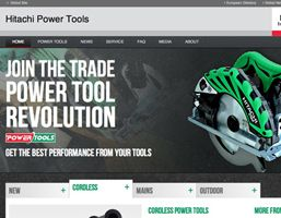 Best selling power tool manufacturer, Hitachi, launch their new website. The site is a total overhaul of their previous. The new website uses the latest responsive technologies to offer consumers, retailers and tradesmen up-to-date information about their products via mobile, tablet or computer.