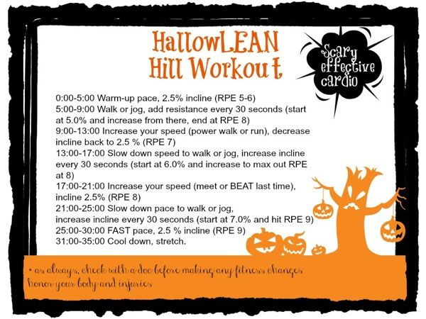 treadmill hill workout