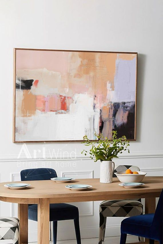 Large Abstract Oil Painting Oversize Painting Pink Painting