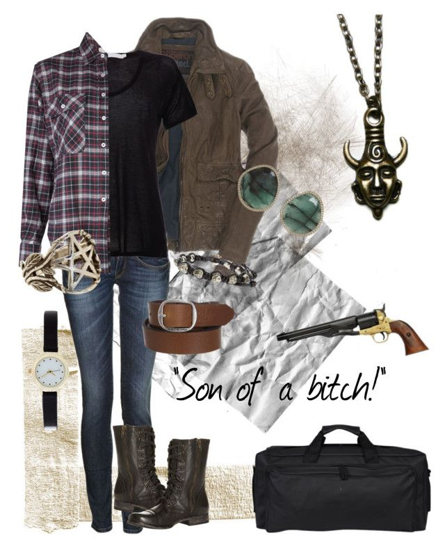 female!Dean Winchester by twitbailey on Polyvore featuring R13, Kain, Superdry, Replay, Steve Madden, Rains, Monique Péan, Pamela Love, Chan Luu and G-Star Raw