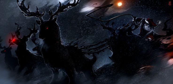 General 5155x2520 Christmas santa Raindeer dark