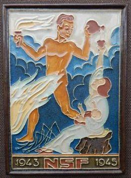 Porceleyne Fles Delft cloisonne tegel NSF 1943-1945