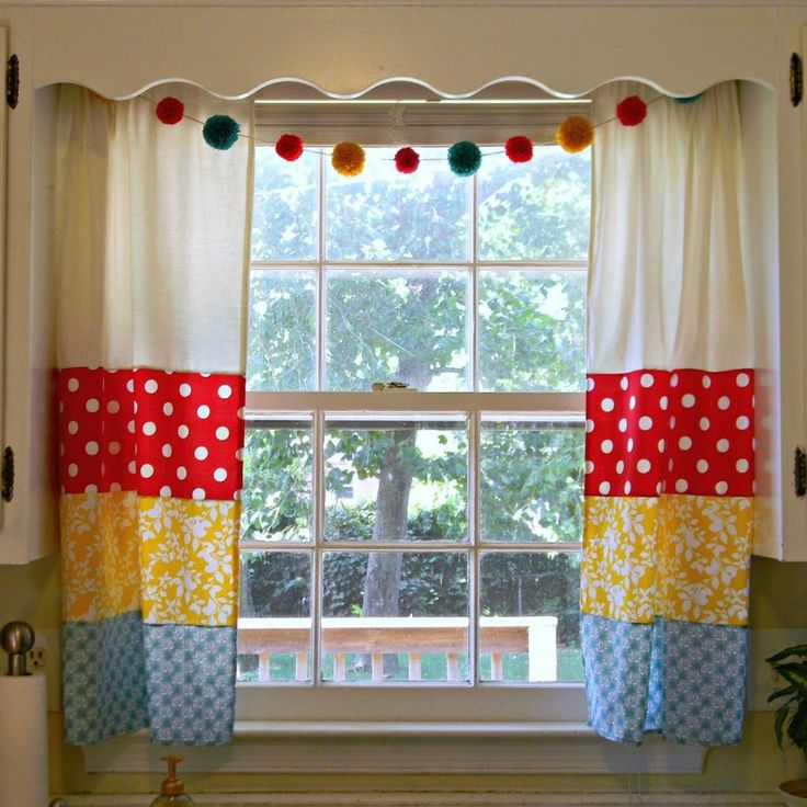 Red White And Blue Kitchen Curtains