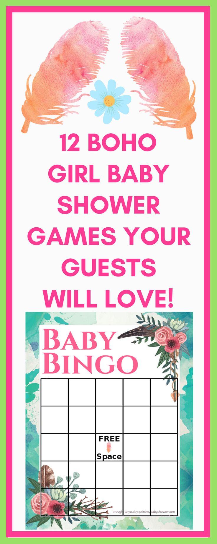 Boho Baby Shower Printable Games