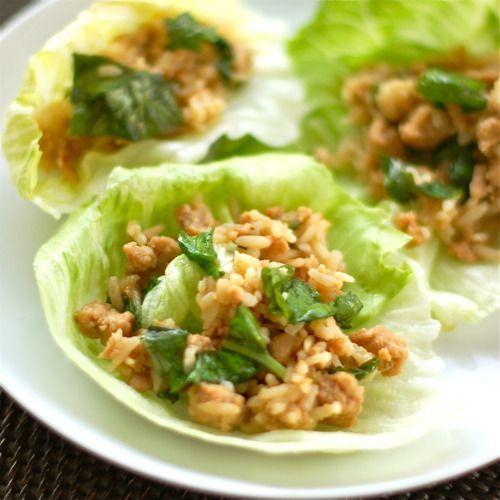 Basil Chicken Lettuce Wraps Recipe. | Food | Pinterest
