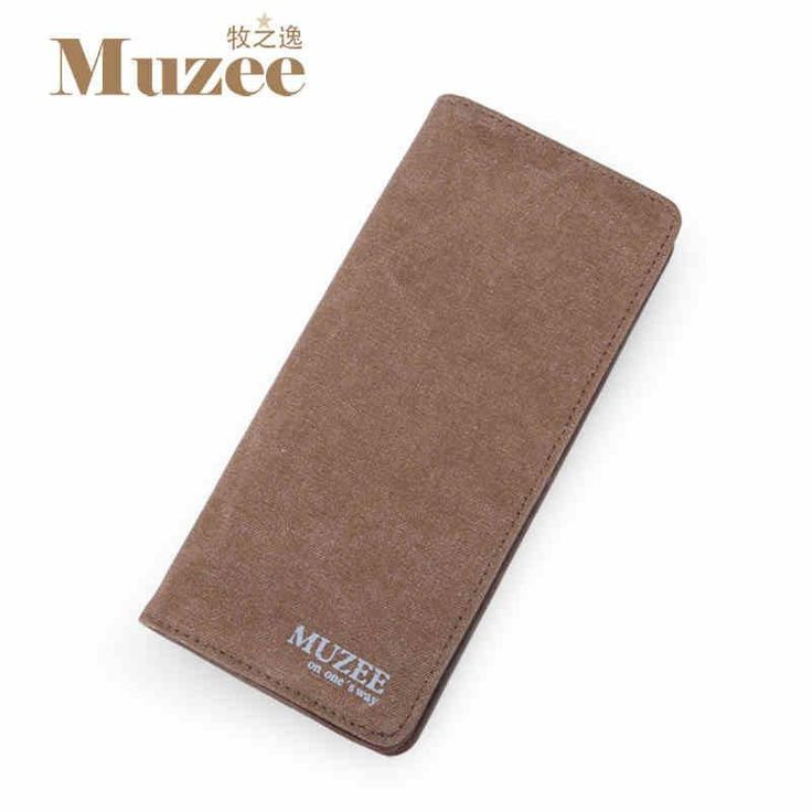 New Fashion Designs Men's Canvas Wallets Money Clip Card Wallet Coin Purse Card Holder