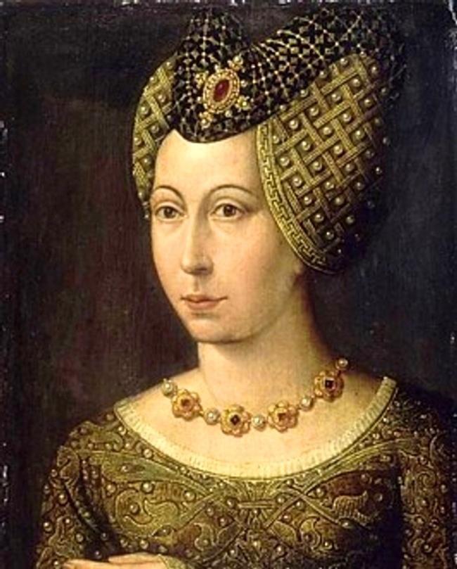 Heart shaped hennin  Familles Royales d'Europe : Marguerite de Bavière, duchesse de Bourgogne