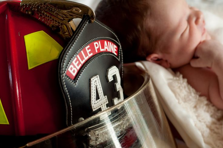 firefighter baby pictures | Karie Dean Photography: Baby C Newborn Portrait Session