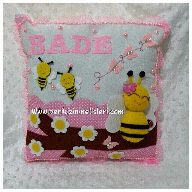 peri kızının el işleri: Arı temalı keçe bebek seti