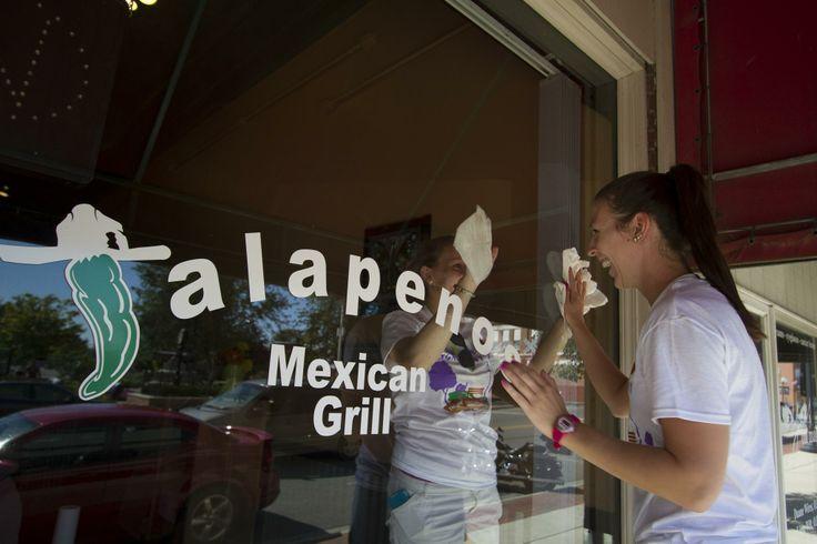 Jalapenos restaurant in Ada, Ohio, along Main Street | Walking Tour for Ohio Northern | Ohio Northern University Art & Design