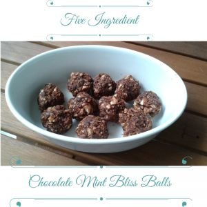 5 Ingredient Easy Chocolate Mint Bliss Balls | Move Love Eat - Clean, Tasty, Super Easy