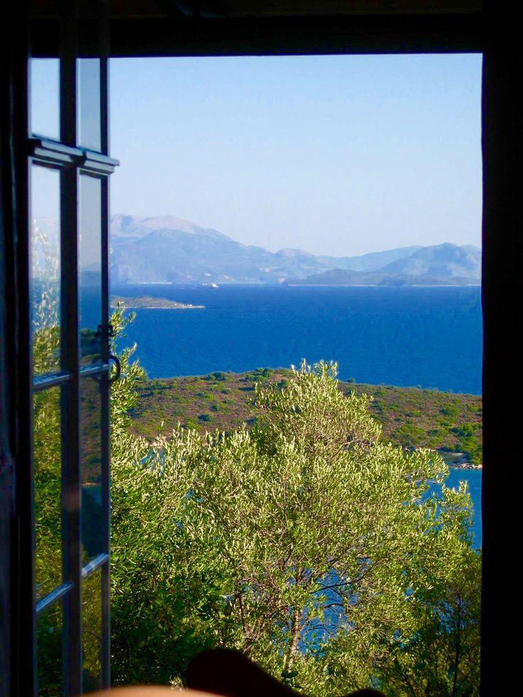 Cottage Mnimata,Ithaca Island,Ioniansea,Greece,view to Lefkada