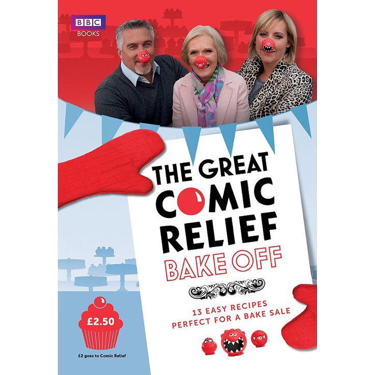 The Great Comic Relief Bake-Off in books and book stands at the home of creative kitchenware, Lakeland