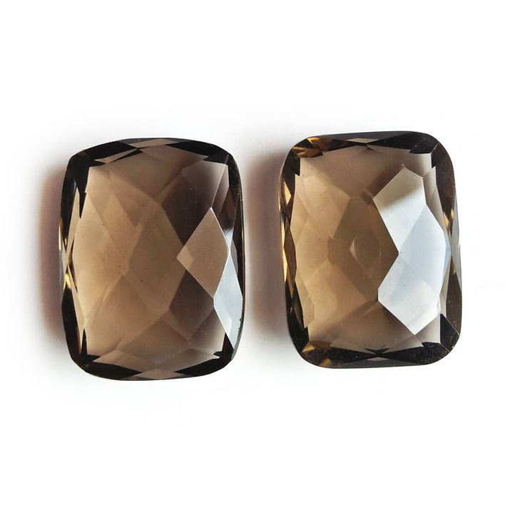 Smoky Topaz  2 Pc Set Smoky Topaz 26x20x11 MM Oval Shape Loose Gem Stone Smoky Topaz Faceted 86 Ct Loose Gem stone For Making Earring by gemsandjewells on Etsy