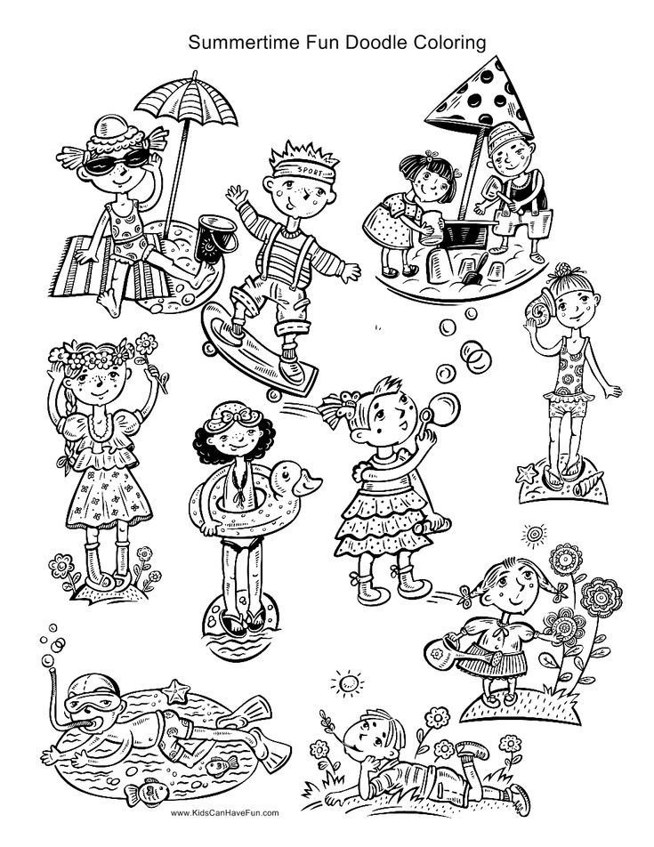 9 best Doodle Coloring Pages for Kids and Adults images on