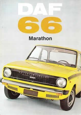 DAF 66 Marathon brochure ; DAF 66SL Marathon Coupé 1972