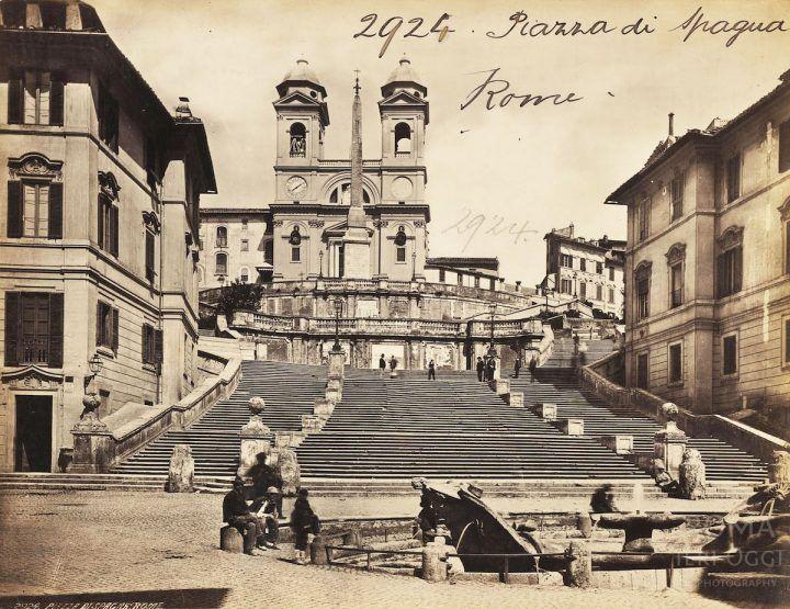 Piazza di Spagna (1860 ca)
