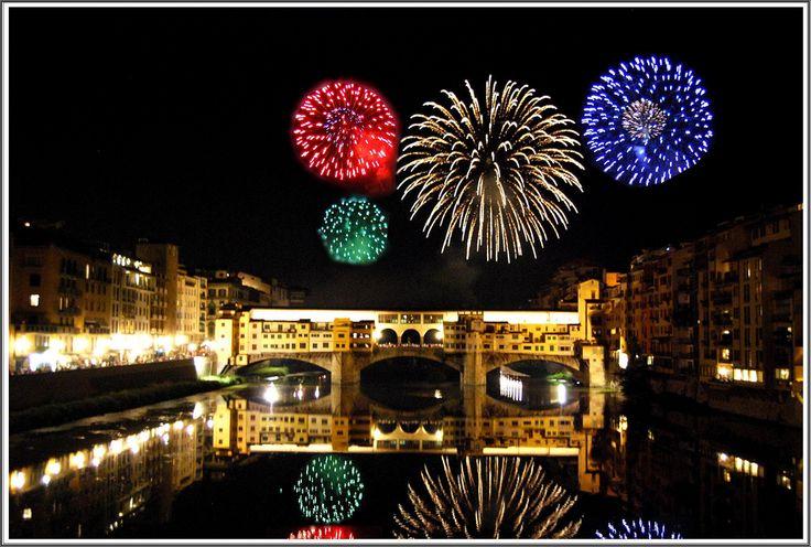 Firenze - Szilveszter a Ponte Vecchiónál