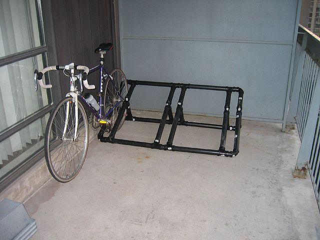 PVC pipe bike rack