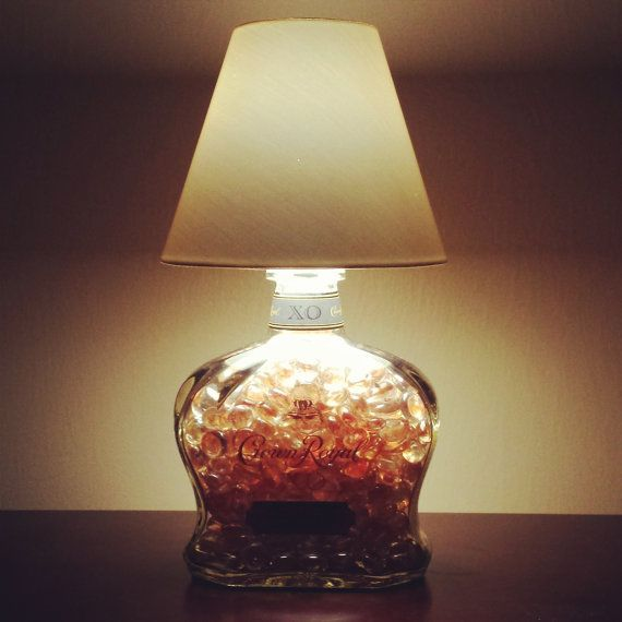Handmade LED Crown Royal XO Liquor Bottle Lamp by SJLiquorLamp