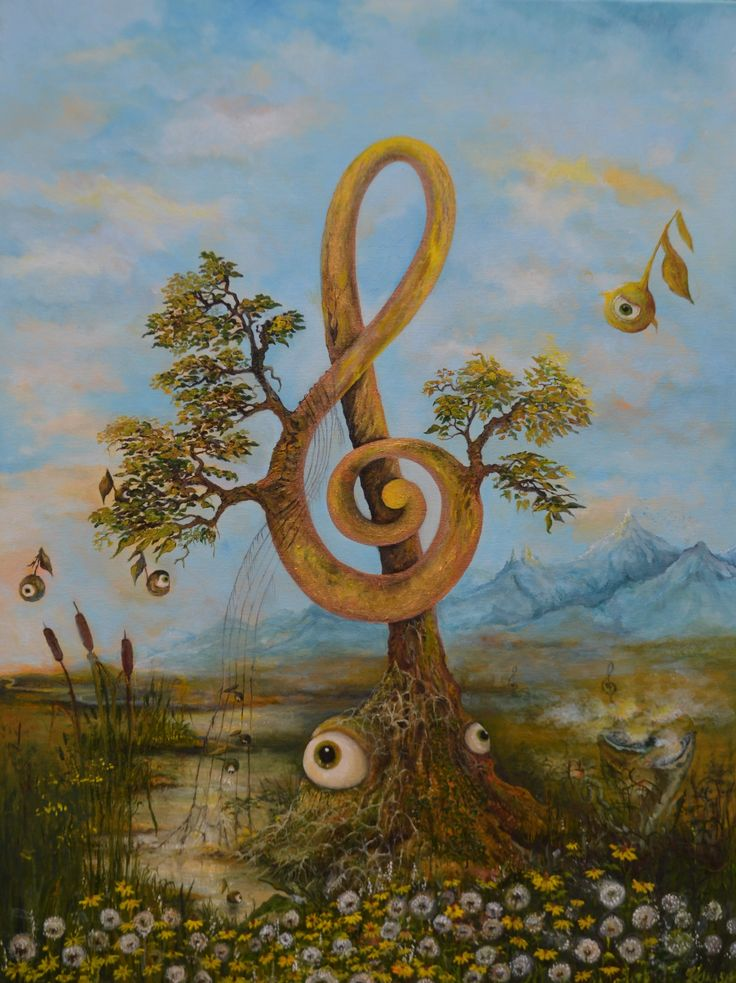 """Singing vegetation"" , oil on canvas"