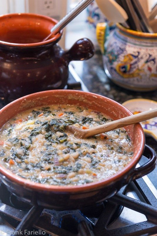 The most memorable Tuscan soup I've ever had was in a small trattoria in Florence, a kind of minestrone. It was so thick, it was more like a porridge than a soup. In this, it was a bit like ribollita in fact, but the thickener was polenta rather than bread.
