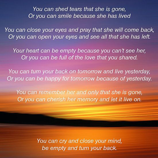 She is Gone - Funeral Poem for Mum