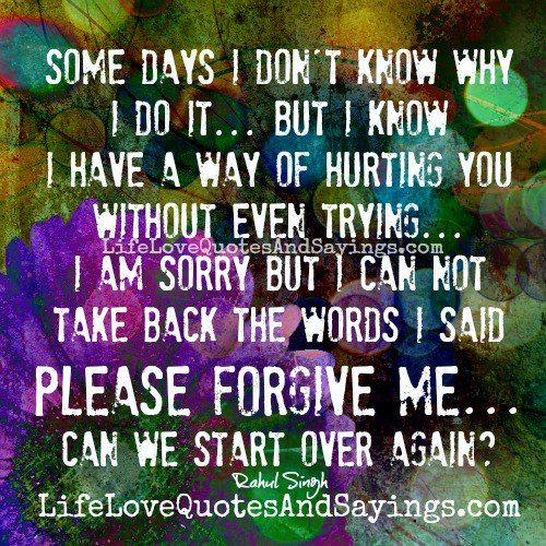 forgiveness quotes and sayings Please Forgive Me.. Love Quotes And ...