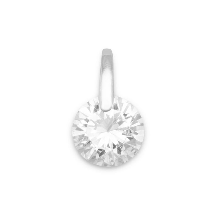 9mm CZ with Silver Bar Pendant