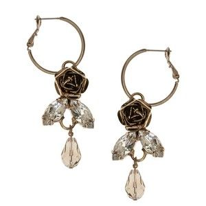 ROSE EARRINGS - glass, metal, alloy, lead, nickel, cadmium, free, ... - Four Corners | Online Boutique Fashion Jewellery
