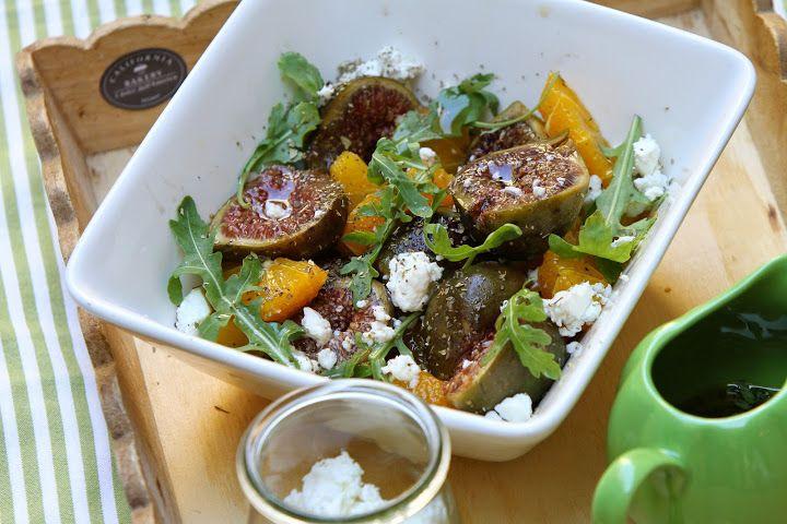 Figs, Feta, Rucola and Orange Salad