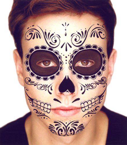 Black Skeleton Day of the Dead Temporary Face Tattoo Kit: Men or Women - 2 Kits Temporary Tattoos http://www.amazon.com/dp/B00FMG8OXM/ref=cm_sw_r_pi_dp_UAiVvb0E1W5CS