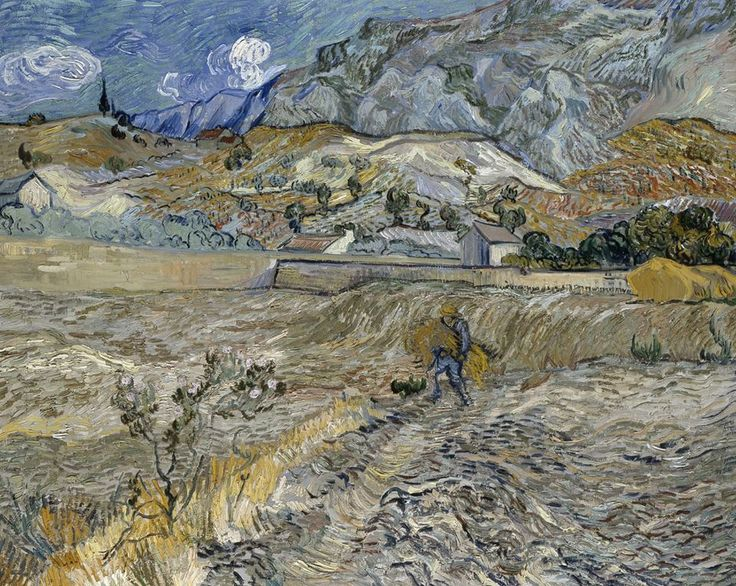 Ван Гог, пейзаж в Saint-Rémy, октября 1889. Масло на холсте, 92.0 x 73,5 см. музей Индианаполиса, Индиана.
