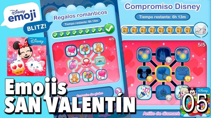 Emojis de San Valentín / Juego Disney Emoji Blitz - Gameplay