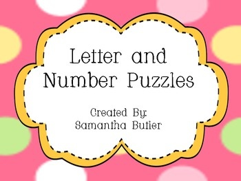 7 best images about letter puzzles on pinterest letter for Number and letter puzzles