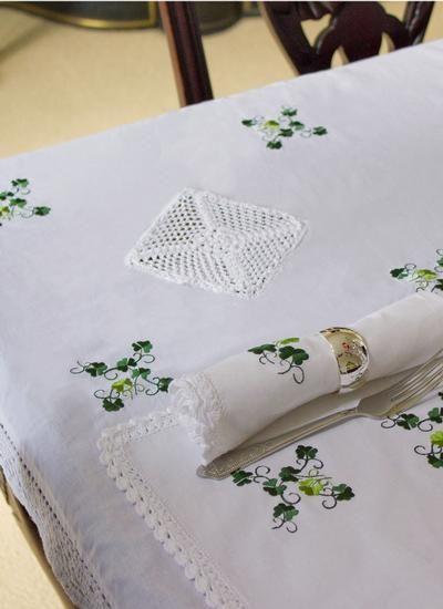 Shamrock Table Cloth Rectangular 56 X 80 Wish List