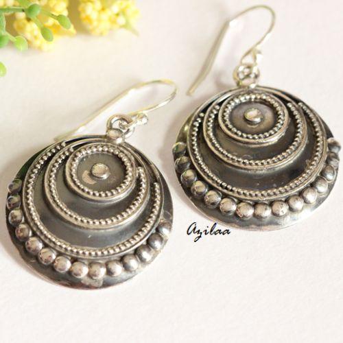 Artisan ethnic sterling silver handmade