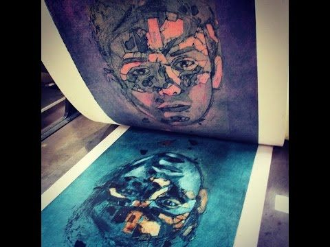 Artist & Printmaker Jet James reveals some of his process in this time-lapse and video montage. www.jetjames.com.au