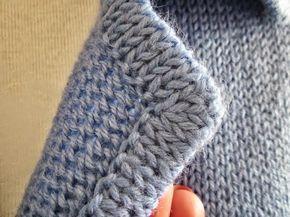 Модели вязания: Обработка кантом воротника,лацканов и карманов в вязаных изделиях