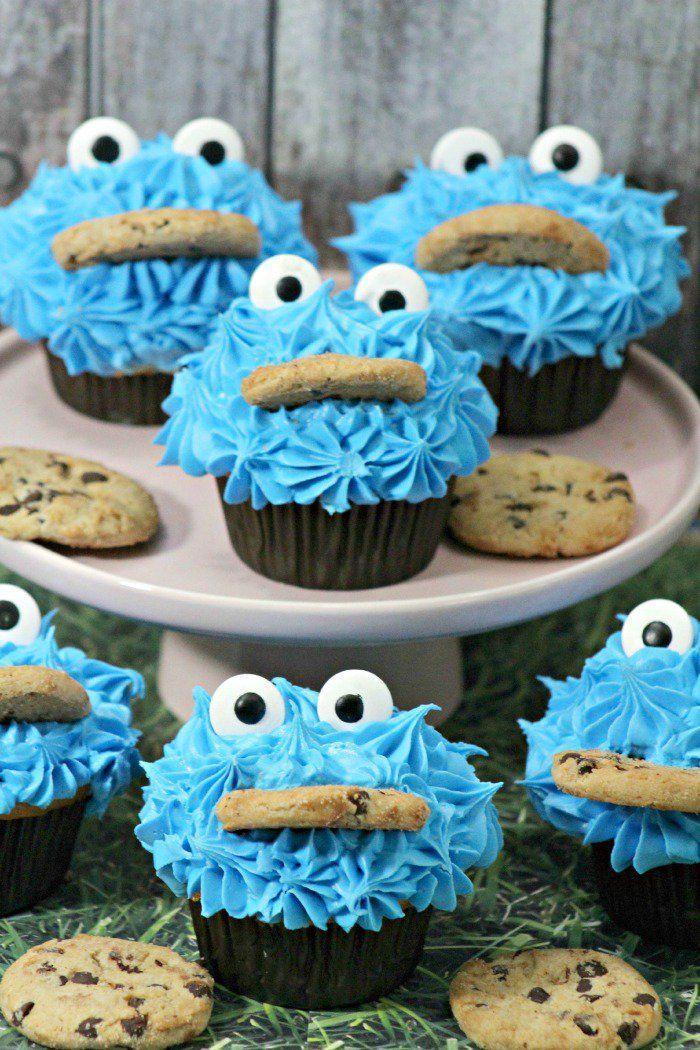 Sesame Street Cookie Monster Cupcakes Tutorial