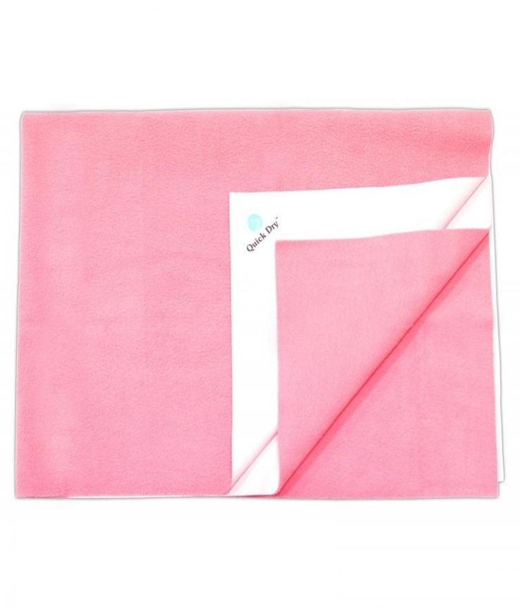 Quick Dry Bed Sets, Sheets & Mats  Plain Small-Pink  Offer Price Rs.340/-