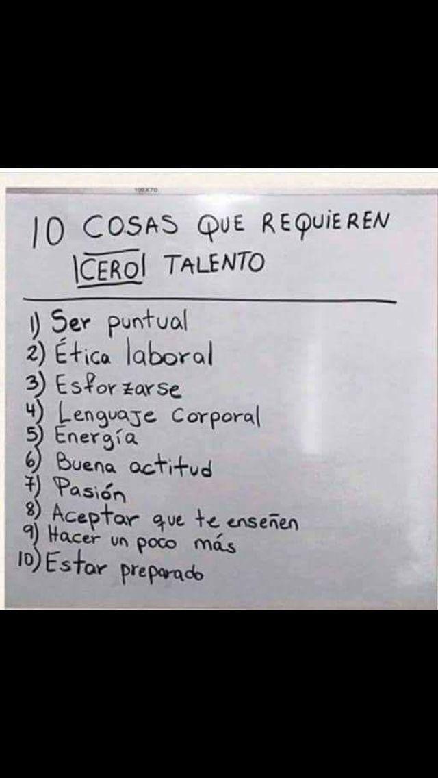10 cosas que necesitan CERO talento