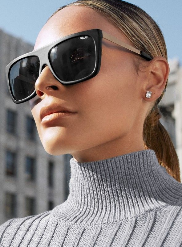 5d9b22d7da9 Quay X Desi OTL II Sunglasses Black Smoke