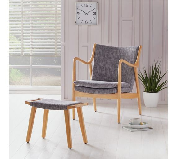 Buy Collection Tulwar Fabric Chair - Grey at Argos.co.uk, visit Argos.co.uk to shop online for Armchairs and chairs, Sofas, armchairs and chairs, Home and garden