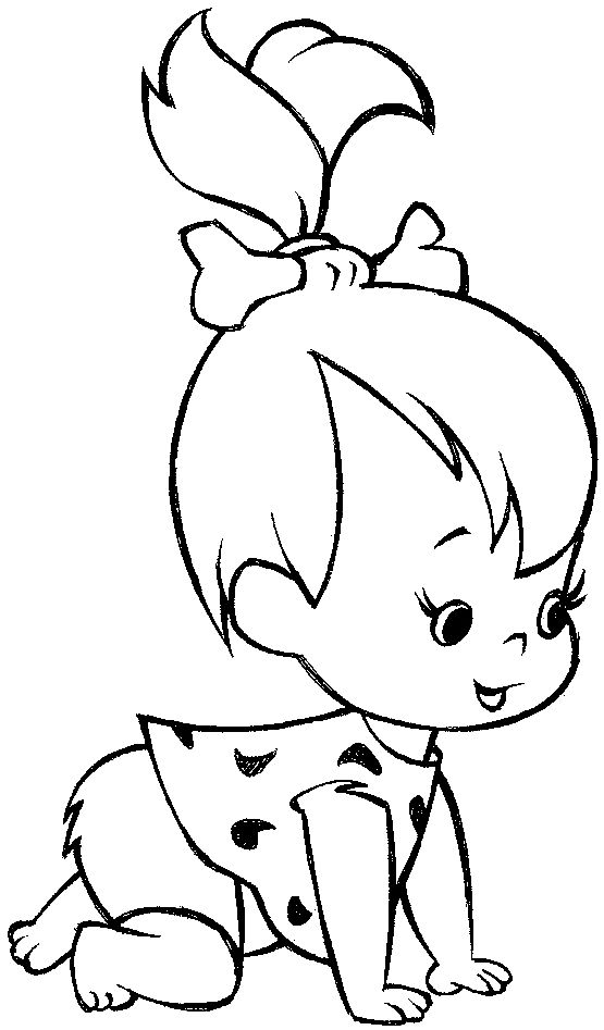 Best 25 pebbles flintstone ideas on pinterest pebbles for Baby drawing easy