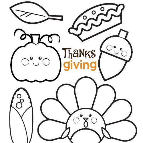 Shades of Turkeys and Pumpkin Pie: #Thanksgiving Colouring