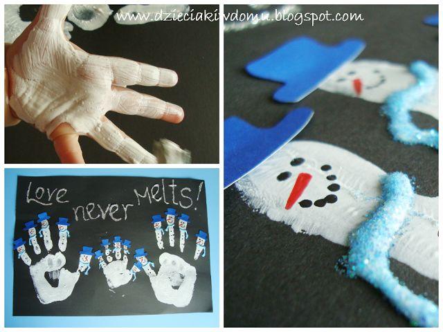 snowman crafts - projekty z bałwankami