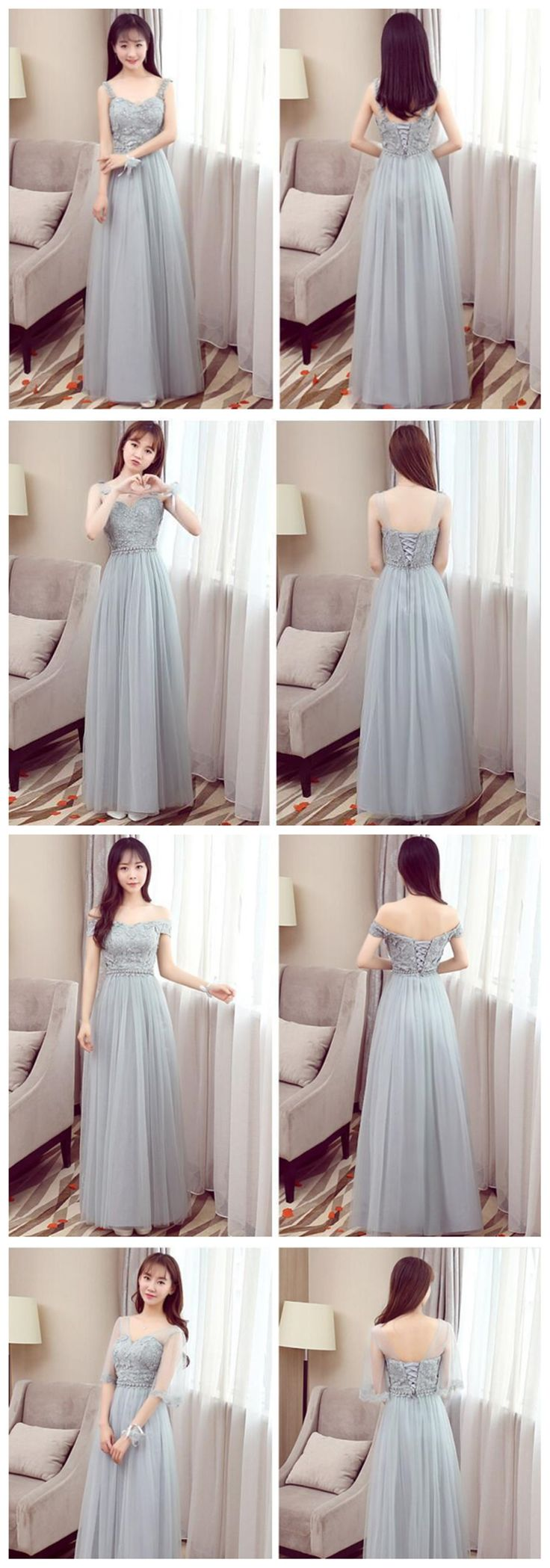 Best 25 affordable bridesmaid dresses ideas on pinterest mismatched affordable gray lace soft tulle long bridesmaid dresses cheap custom long bridesmaid dresses ombrellifo Image collections