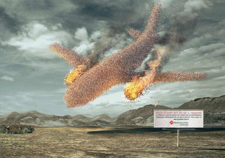 Nisa Hospital: Plane crash #antitabaco #fumadores #medianaEdad