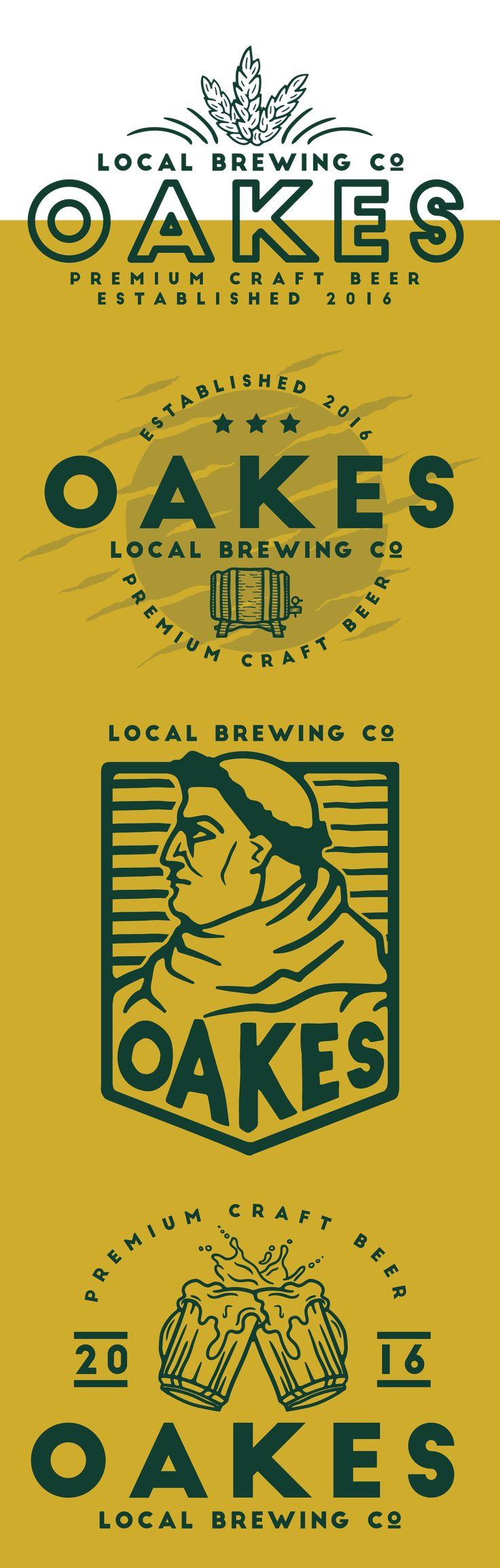 Branding work for Oakes Brewing Co.